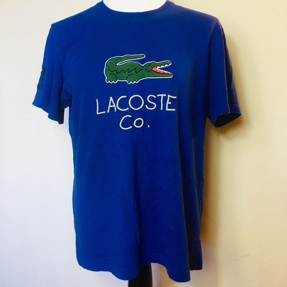 481905ac Lacoste Mens T-shirt Giant Spell Out Logo crewneck